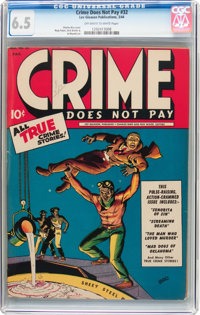 Crime Does Not Pay #32 (Lev Gleason, 1944) CGC FN+ 6.5 Off-white to white pages