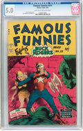 Golden Age (1938-1955):Science Fiction, Famous Funnies #211 (Eastern Color, 1954) CGC VG/FN 5.0 Light tanto off-white pages....