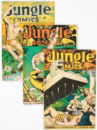 Jungle Comics Group of 5 (Fiction House, 1947-51) Condition: Average FN.... (Total: 5 Comic Books)