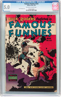 Golden Age (1938-1955):Science Fiction, Famous Funnies #216 (Eastern Color, 1955) CGC VG/FN 5.0 Off-whiteto white pages....