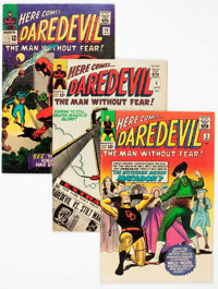 Daredevil Group of 30 (Marvel, 1964-76) Condition: Average VG/FN.... (Total: 30 Comic Books)
