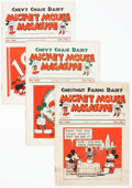 Magazines:Humor, Mickey Mouse Magazine Dairy Giveaway Group of 10 (Walt DisneyProductions, 1933-34) Condition: Average VG.... (Total: 10 ComicBooks)