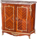 Furniture : French, A French Gilt Bronze Mounted Mahogany and Kingwood Cabinet withMarble Top, circa 1900. Marks: H. NELSON. 46-1/2 h x 51-...(Total: 3 Items)