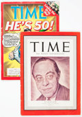 Magazines:Miscellaneous, Time Magazines Group of 2 (Time Inc., 1940-88) Condition: VG-....(Total: 2 Items)