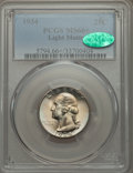 Washington Quarters, 1934 25C Light Motto MS66+ PCGS. CAC. PCGS Population (112/18 and16/3+). NGC Census: (23/2 and 1/0+). Mintage: 31,912,052....