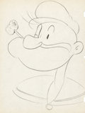 Animation Art:Production Drawing, Popeye the Sailor Man Animation Drawings (Max Fleischer, 1930s).... (Total: 3 Items)