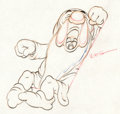 Animation Art:Production Drawing, Snow White and the Seven Dwarfs Sleepy Animation Drawing(Walt Disney, 1937)....