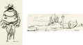 Animation Art:Concept Art, Walt Peregoy Don Quixote Concept Art (Walt Disney, 1952).... (Total: 2 Items)