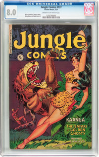 Jungle Comics #137 (Fiction House, 1951) CGC VF 8.0 Cream to off-white pages