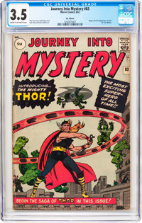 Journey Into Mystery #83 UK Edition (Marvel, 1962) CGC VG- 3.5 Cream to off-white pages