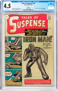 Tales of Suspense #39 UK Edition (Marvel, 1963) CGC VG+ 4.5 White pages