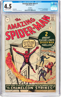 The Amazing Spider-Man #1 UK Edition (Marvel, 1963) CGC VG+ 4.5 Off-white to white pages