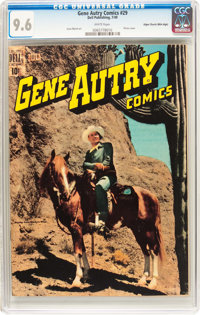 Gene Autry Comics #29 Mile High Pedigree (Dell, 1949) CGC NM+ 9.6 White pages