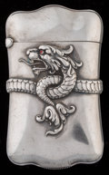 Silver Smalls:Match Safes, A Carter and Howe Silver Dragon Match Safe, New York, New York,circa 1901. Marks: (C-arrow), STERLING. 2-5/8 inches hig...