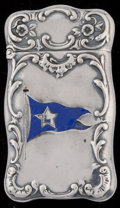 Silver Smalls:Match Safes, A Reed & Barton Enameled Silver Match Safe, Taunton,Massachusetts, circa 1890. Marks: (eagle-R-lion passant),STERLING, 3...
