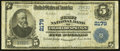 National Bank Notes:Colorado, Colorado Springs, CO - $5 1902 Plain Back Fr. 605 The First NB Ch.# 2179. ...