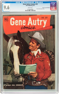 Gene Autry Comics #52 Mile High Pedigree (Dell, 1951) CGC NM+ 9.6 White pages