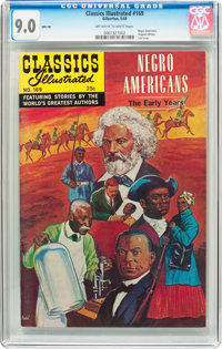 Classics Illustrated #169 Negro Americans - Original Edition (Gilberton, 1969) CGC VF/NM 9.0 Off-white to white pages...