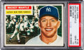Baseball Cards:Singles (1950-1959), 1956 Topps Mickey Mantle, Gray Back #135 PSA Gem Mint 10....