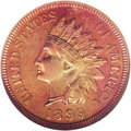 Early Proof Sets: , 1899 Proof Set PR65 to PR67 NGC. Included are: Indian Cent PR65 Red and Brown, essentially full cherry-red and orange co... (Total: 6 Coins)