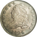 Bust Dimes: , 1824/2 10C MS65 NGC. JR-1, R.3. The sole collectible variety of thedate, since JR-2 is represented by only a handful of pi...