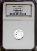 "Proof Roosevelt Dimes: , 1963 10C Doubled Die Reverse PR68 Cameo NGC. FS-017.5. TheCherrypickers' Guide calls this variety ""the strongest andm..."