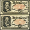 Fractional Currency:Fifth Issue, Fr. 1381 50¢ Fifth Issue Very Fine-Extremely Fine Two Examples..... (Total: 2 notes)