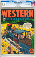 Golden Age (1938-1955):Western, Western Fighters #8 Mile High Pedigree (Hillman Fall, 1949) CGC NM+ 9.6 White pages....