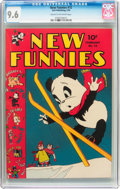 Golden Age (1938-1955):Cartoon Character, New Funnies #72 (Dell, 1943) CGC NM+ 9.6 Cream to off-white pages....