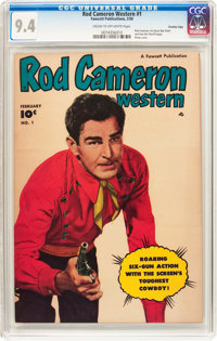 Rod Cameron Western #1 Crowley Copy Pedigree (Fawcett Publications, 1950) CGC NM 9.4 Cream to off-white pages
