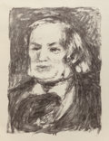 Fine Art - Work on Paper:Print, Pierre-Auguste Renoir (French, 1841-1919). Richard Wagner,circa 1900. Lithograph. 16-1/2 x 12-1/4 inches (41.9 x 31.1 c...