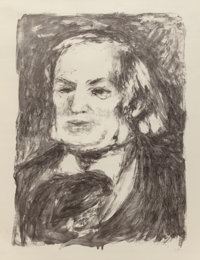 Pierre-Auguste Renoir (French, 1841-1919) Richard Wagner, circa 1900 Lithograph 16-1/2 x 12-1/4 i