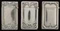 Silver Smalls:Match Safes, Three Gorham Silver Match Safes, Providence, Rhode Island, circa1911-1912. Marks: (lion-anchor-G), STERLING, PAT. 1910., ...(Total: 3 Items)