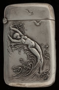 Silver Smalls:Match Safes, An Unger Silver Match Safe, Newark, New Jersey, circa 1905. Marks:UB (interlaced), STERLING, 925 FINE. 2-3/8 inches...
