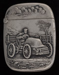Silver Smalls:Match Safes, An Aiken Lambert Partial Gilt Silver Buggy Match Safe, NewYork, New York, circa 1890. Marks: STERLING-A. 2-...