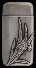 Silver Smalls:Match Safes, A Howard Partial Gilt Silver Iris Match Safe, New York, NewYork, circa 1890. Marks: (clover), STERLING . 2-...