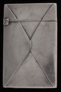Silver Smalls:Match Safes, An American Silver-Plated Envelope-Form Match Safe, circa 1890.2-3/8 inches high (6.0 cm). PROPERTY FROM THE ESTATE OF JO...
