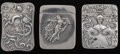 Silver Smalls:Match Safes, Two Fritzche and an American Art Nouveau Silver Match Safes,Newark, New Jersey, circa 1900. Marks to all: F (incartouc... (Total: 3 Items)