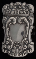 Silver Smalls:Match Safes, An American Silver Bulldog Trick Match Safe, Attributed toGilbert, circa 1890. Marks: STERLING. 2-1/2 inche...