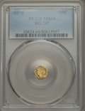 California Fractional Gold , 1875 25C Indian Octagonal 25 Cents, BG-797, Low R.4, MS66 PCGS....