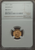 Commemorative Gold, 1917 G$1 McKinley Gold Dollar MS65+ NGC....