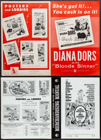 """Blonde Sinner & Others Lot (Allied Artists, 1956). Pressbooks (26) (Multiple Pages, 8.25""""-14"""" X 11&quo..."""