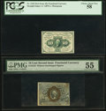 Fractional Currency:First Issue, Fr. 1242 10¢ First Issue PCGS Choice About New 58;. Fr. 1244 10¢ Second Issue PMG About Uncirculated 55.. ... (Total: 2 notes)
