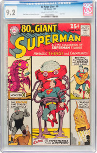 80 Page Giant #6 Superman (DC, 1965) CGC NM- 9.2 Cream to off-white pages