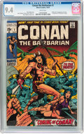 Bronze Age (1970-1979):Adventure, Conan the Barbarian #1 (Marvel, 1970) CGC NM 9.4 White pages....