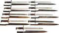 Edged Weapons:Bayonets, Lot of Nine U.S. Model 1892 Krag Rifle Bayonets.... (Total: 9 Items)