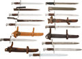 Edged Weapons:Bayonets, Lot of Nine U.S. Model 1892 Krag Rifle Bayonets and One U.S. M1 Garand Bayonet.... (Total: 10 Items)