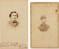 Photography:CDVs, Civil War Union Officers Cartes de Visite: Lot of Two Identified Union Officers Killed in Action.... (Total: 2 Items)