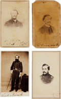 Photography:CDVs, Civil War Union Cartes de Visite: Lot of Four Identified Union Soldiers.... (Total: 4 Items)