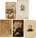 Photography:CDVs, Civil War Union Cartes-de-visite: Identified Soldiers.... (Total: 5 Items)